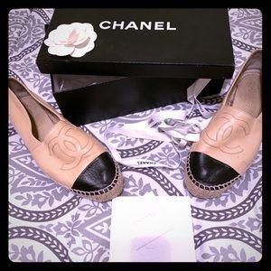 Chanel espadrilles lambskin AUTHENTIC